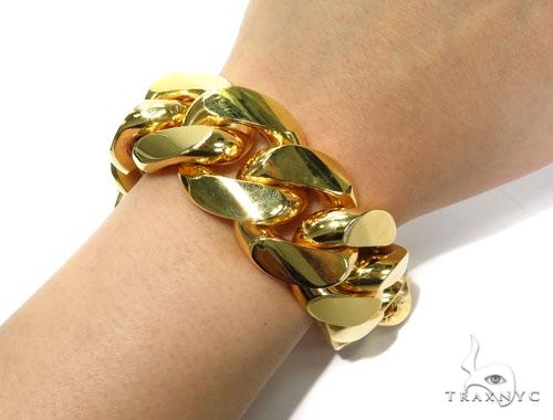 Miami Cuban Gold Bracelet 41126 Gold
