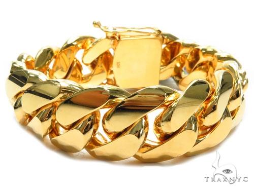 Miami Cuban Gold Bracelet 41128 Gold