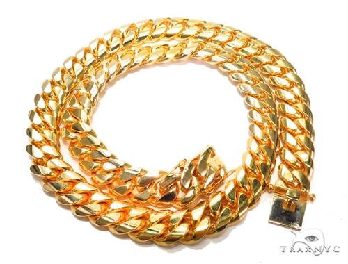 Miami Cuban Gold Chain 36 Inches 22mm 1500Grams 41962 Gold
