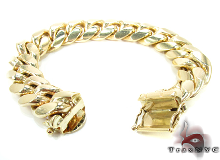 Miami Cuban Link Bracelet 8 Inches 14mm 117.7 Grams Gold