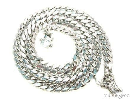 Miami Cuban Link Solid 10K White Gold Chain 20 Inches 12mm 195.6 Grams 65156 Gold