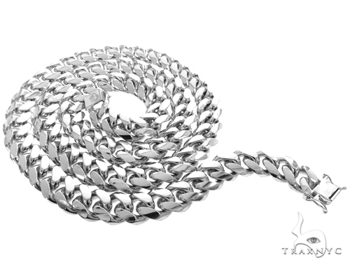 Miami Cuban Silver Chain 30 Inches 13mm 292.7 Grams 49190 Silver
