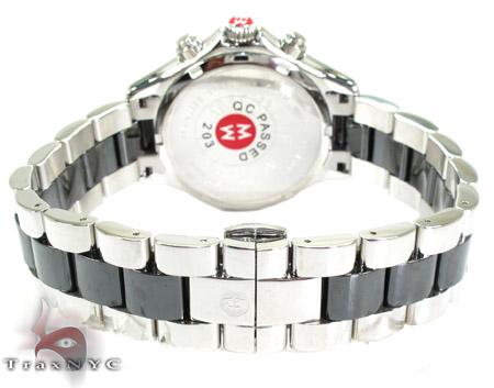 Michele Large Tahitian Black Ceramic Watch MWW12E000004 Michele Diamond Watches
