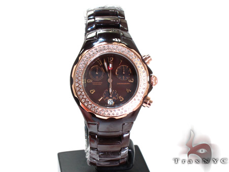 Michele Tahitian Ceramic Collection Ladies Watch MWW12A000013 Michele Diamond Watches