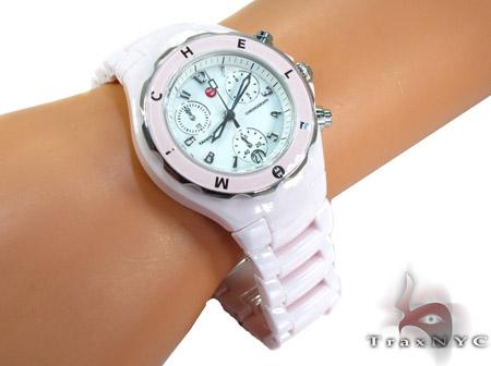 Michele Tahitian Ceramic Ladies Watch MWW12A000004 Michele Diamond Watches