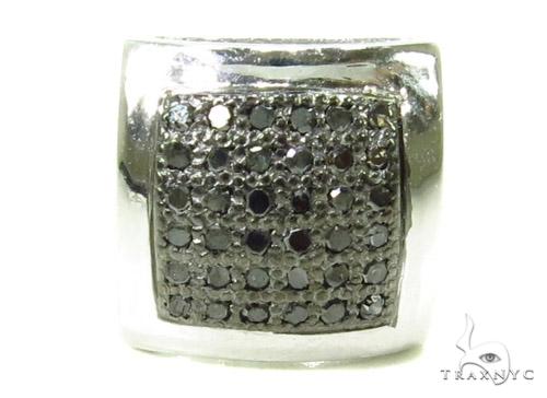 Micro-Pave Black Diamond Earrings 37675 Stone