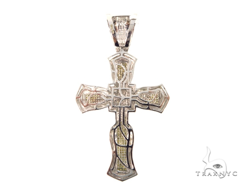 Micro Pave Diamond Cross Crucifix 45539 Diamond