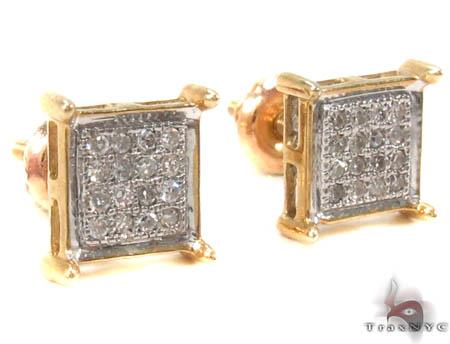 Micro-Pave Diamond Earrings  32977 Stone
