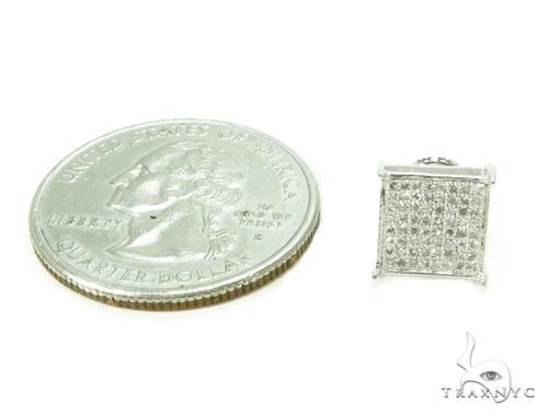 Micro-Pave Diamond Silver Earrings 39710 Metal