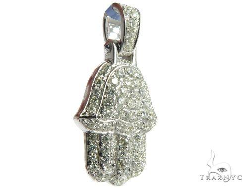 Micro Pave Diamond Small Hamsa Pendant Stone