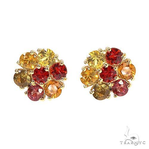 Mini Fire Sapphire Flower Earrings 66899 Style