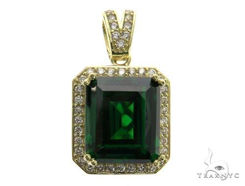 Mini Green Tresaure Gold Pendant 63442 Metal