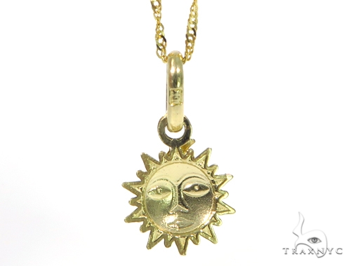 Moon & Gold Necklace 44809 Gold