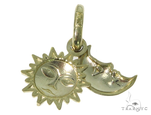 Moon & Sun Gold Pendant 44906 Metal