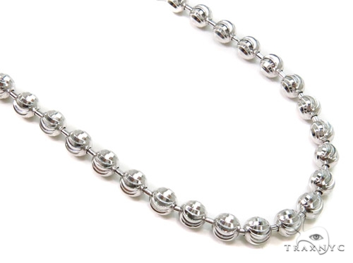 Moon Cut Silver Chain 36 Inches, 3mm, 18.7 Grams Silver