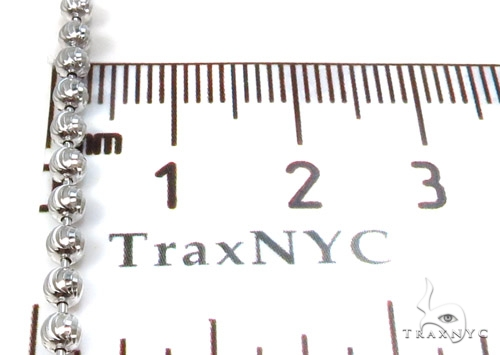 Moon Cut Silver Chain 36 Inches, 3mm, 18.7 Grams Silver