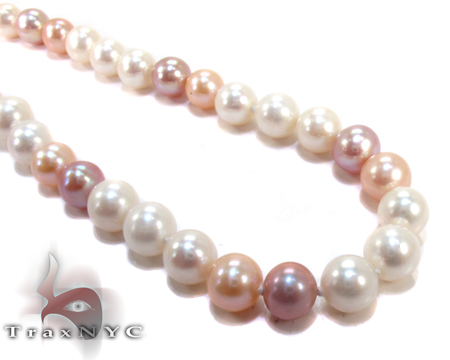 Multi-Color Pearl Necklace 27186 Pearl