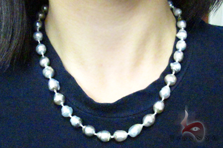Multi-color Baroque Pearl Ladies Necklace 27357 Pearl
