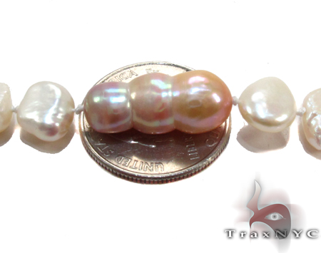 Multi-color Pearl Ladies Long Necklace 27614 Pearl