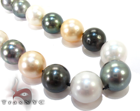 Multi-color Pearl Ladies Necklace 27152 Pearl
