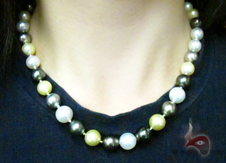Multi-color Pearl Ladies Necklace 27353 Pearl