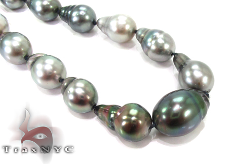Multi-color Baroque Pearl Ladies Necklace 27355 Pearl