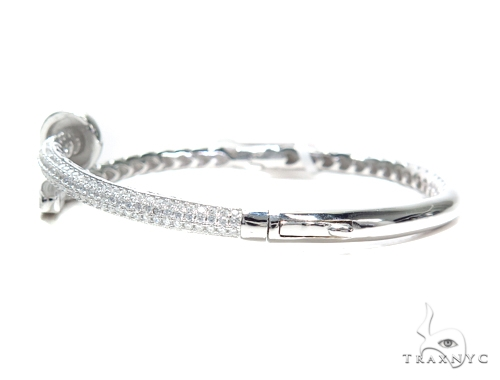 Nail Silver Bangle Bracelet 42212 Silver & Stainless Steel