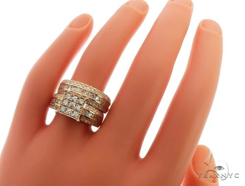 14k Yellow Gold Wedding Set Engagement