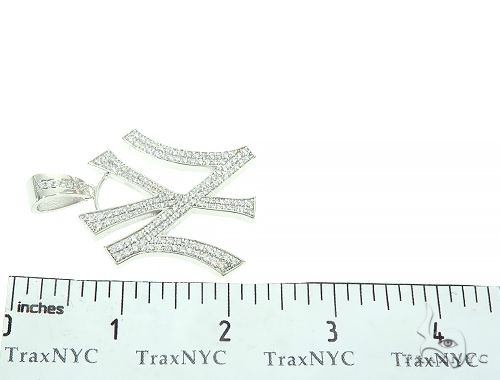 New York Yankee Diamond Pendant 65859 Metal