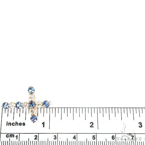 Ocean Blue Sapphire Diamond Cross 66992 Multicolor SAPPHIRE