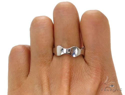 Ocean Wave Silver Ring 40800 Metal