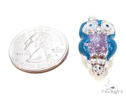 Owls Silver Pendant 36344 Metal