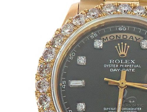 Oyster Perpetual Day-Date 36mm Diamond Rolex President Watch 65610 Diamond Rolex Watch Collection