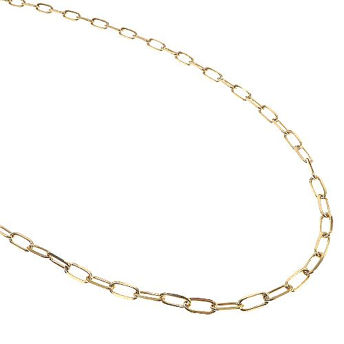 Paperclip Link Chain 20 Inches 3mm 6.96 Grams 66515 Gold