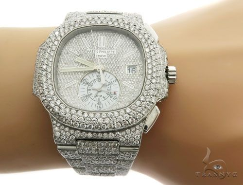 Patek Philippe Nautilus Chronograph Diamond Stainless Steel Watch Special Watches