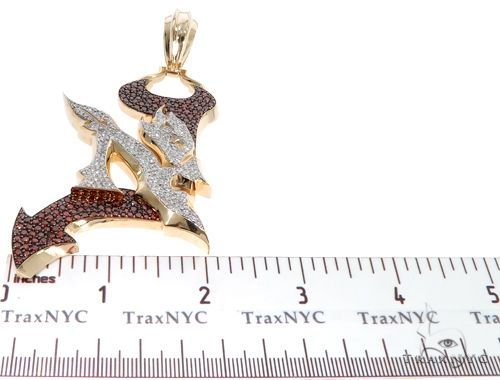 Pave Diamond Custom New Jersey Devil Pendant 64017 Metal