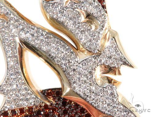 Pave Diamond Custom New Jersey Devil Pendant 64017 Metal
