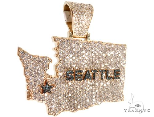 Pave Diamond Custom Seattle Pendant 64016 Metal