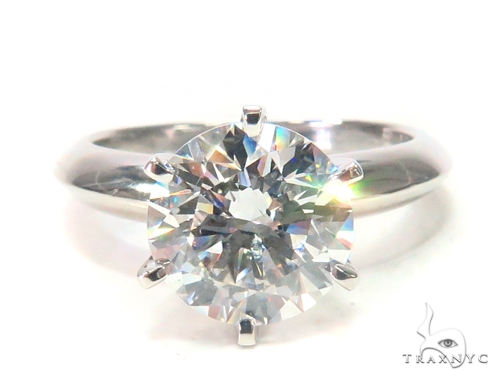 Pave Diamond Engagement Solitaire Ring 44597 Engagement