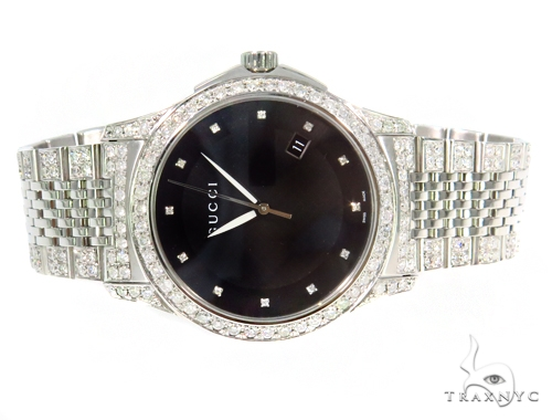 Pave Diamond G Timeless Collection Medium Version Gucci Watch  YA126405 45314 Gucci