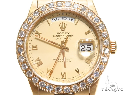 Pave Diamond Rolex Day Date Watch 41412 Diamond Rolex Watch Collection