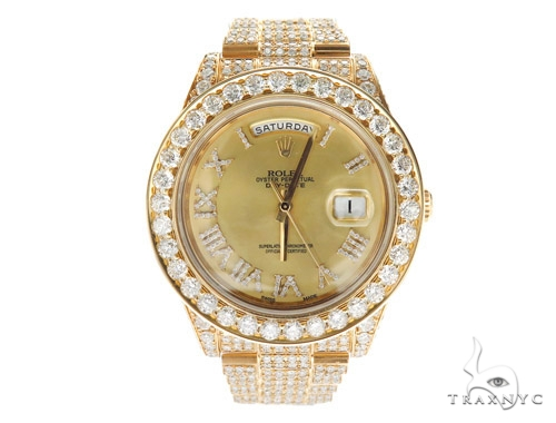 Pave Diamond Rolex Day Date Watch 42350 Diamond Rolex Watch Collection