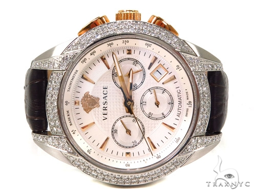 Pave Diamond Versace Watch M9A99D002 S497 Special Watches