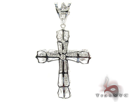 Pave Eternity Cross Crucifix Diamond