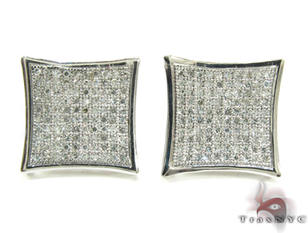 Pave SQ Earrings 5 Stone