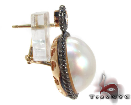 Pearl Diamond Earrings 28304 Stone