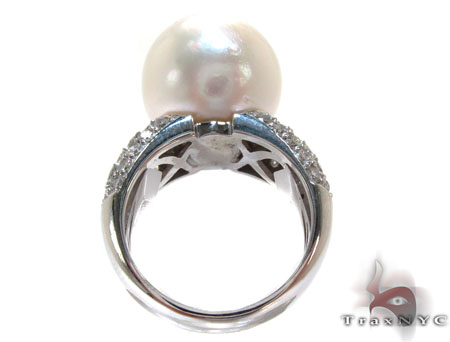 Pearl Diamond Ring Anniversary/Fashion