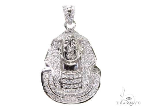 Pharaoh Sterling Silver Pendant 40298 Metal