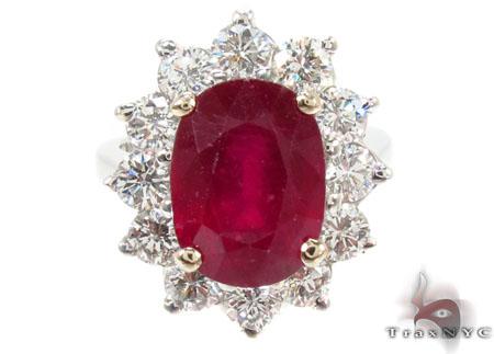 Pigeon Blood Ruby Diamond Ring Anniversary/Fashion
