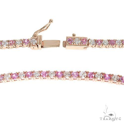 Pink Sapphire And Diamond Baby Choker 66853 Diamond